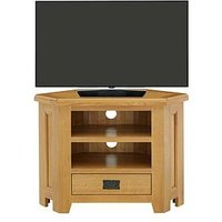 Product photograph showing Luxe Collection - Oakland 100 Solid Wood Corner Tv Unit - Fits Up To 40 Inch Tv