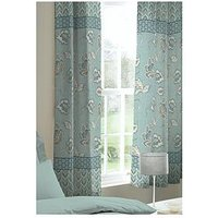 Catherine Lansfield Kashmir Lined Eyelet Curtains