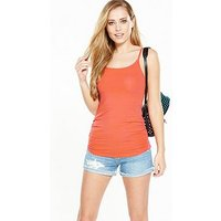V by Very Ruched Side Vest, Flame, Size 12, Women