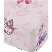 Catherine Lansfield Glamour Princess Single Fitted Sheet, Pink