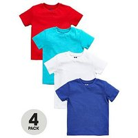 Mini V by Very Toddler Boys 4pk Solid Tees, Multi, Size Age: 6-9 Months