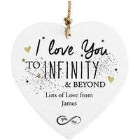 Personalised To Infinity &Amp; Beyond Hanging Heart