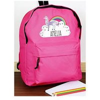 Personalised Unicorn Backpack, One Colour, Women