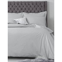 Hotel Collection Luxury 300 Thread Count Soft Touch Sateen Stripe Duvet Cover