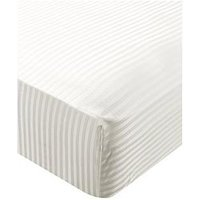 Hotel Collection Luxury 100% Cotton Sateen 300 Thread Count Extra Deep Stripe Fitted Sheet