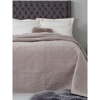 Product photograph showing Hotel Collection Luxury Vintage Paisley Quilted Cotton Bedspread Throw