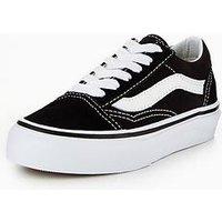 Vans Old Skool Childrens Trainer - Black/white , Black/White, Size 11