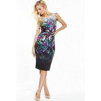 Phase Eight Wren Scuba Dress - Floral Print, Multi, Size 18, Women