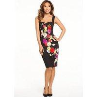 Myleene Klass Off The Shoulder Fitted Dress, Print, Size 16, Women