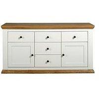 Alston Large Sideboard - Cream/Oak-Effect