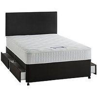 Silentnight Mirapocket Mia 1000 Pocket Memory Divan Bed With Storage Options And Half-Price Headboard Offer (Buy And Save!)