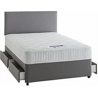 Product photograph showing Silentnight Mirapocket Mia 1000 Pocket Luxury Divan Bed With Storage Options - Medium Firm