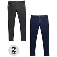V by Very 2 Pack Skinny Jeans With Stretch, Dark Wash, Size 6 Years, Women