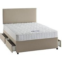 Product photograph showing Silentnight Miracoil Celine Divan With Storage Options - Medium Firm