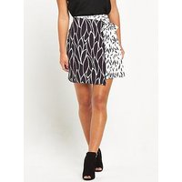 Alter PETITE Mini Skirt, Printed, Size 10, Women