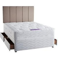 Product photograph showing Sealy Grand Ortho Memory Foam Divan Bed With Storage Options