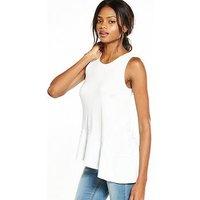 V by Very Frill Hem Vest, Coral Pink, Size 18, Women