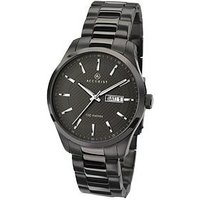 Accurist Black Date Dial Stainless Steel Bracelet Mens Watch, One Colour, Men