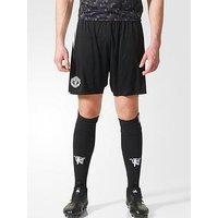 adidas Manchester United 17/18 Away Shorts, Black, Size S, Men