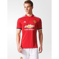 adidas Manchester United 17/18 Home Shirt, Red, Size L, Men