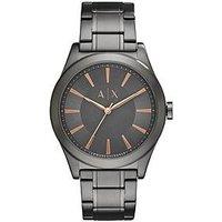Armani Exchange Armani Exchange Grey Dial Rose Tone Accents Grey Bracelet Mens Watch, One Colour, Men