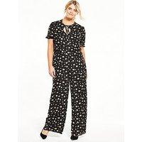 Fashion Union Curve Floral Jumpsuit, Print, Size 22, Women