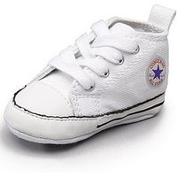 Converse Chuck Taylor All Star First Star Hi Core Crib Trainer, White, Size 2