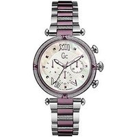 Gc LadyChic - Swiss Movement, Multifunction, Silver & Purple case & bracelet with White Mother Of Pearl dial, One Colour
