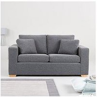 Product photograph showing Madrid Fabric Sofa Bed