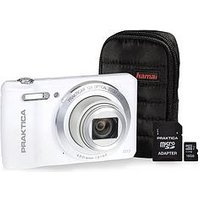 Praktica Luxmedia Z212 20 Megapixel Camera Kit Including 16Gb Microsd Card And Case - White sale image