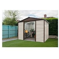 Product photograph showing Yardmaster 7 4 X 6 Ft Shiplap Metal Shed