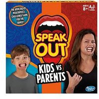 Hasbro Speak Out Kids Vs Parents Game From Hasbro Gaming