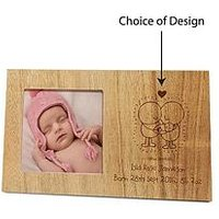 Chilli & Bubbles Chilli &Amp; Bubbles Wooden Photo Frame - With Choice Of Occasions