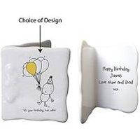 Chilli & Bubbles Chilli &Amp; Bubbles Ceramic Message Card - With Choice Of Occasions