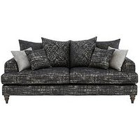Luxe Collection - Elegance 3-Seater Fabric Scatterback Sofa
