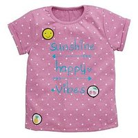 Mini V by Very Girls Single Badged Tee, Multi, Size Age: 3-6 Months, Women