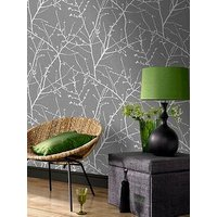 Product photograph showing Superfresco Easy Innocence Charcoal And Silver Wallpaper