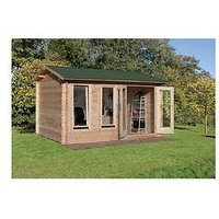 Product photograph showing Forest 4 X 3m Chiltern Log Cabin - Chiltern Log Cabin 4 0m X 3 0m