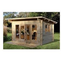 Product photograph showing Forest 4 X 3m Melbury Log Cabin - Melbury Log Cabin 4 0m X 3 0m