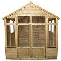 Forest 7X7Ft Oakley Overlap Pressure Treated Summerhouse