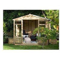 Forest 8X6Ft Oakley Overlap Pressure Treated Summerhouse