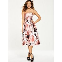 Myleene Klass Floral Bandeau Prom Dress, Floral Print, Size 18, Women