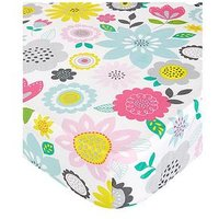 Catherine Lansfield Floral Patchwork Double Fitted Sheet Twin Pack - Single, Brights