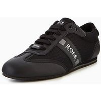 BOSS Green Lighter Low Trainer, Black, Size 9, Men