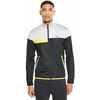 Boss Green Tech Colour Block Full Zip Jacket, White/Yellow/Black, Size Xl, Men
