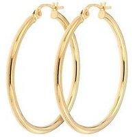 Bracci Bracci 9CT Yellow Gold 28mm Hoop Creole Earrings, One Colour, Women