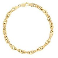 Bracci Bracci 9CT Yellow Gold Prince Of Wales Chain Bracelet, One Colour, Women