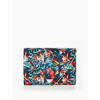 V by Very Tropical Floral Print Envelope Clutch, Multi, Women