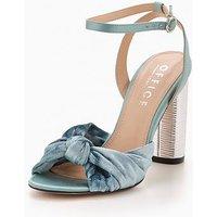 OFFICE Natural Knot Heeled Sandal - Aqua, Aqua, Size 3, Women