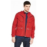 Pretty Green Pretty Green Capella Seam Sealed Waterproof Jacket, Dark Red, Size Xs, Men